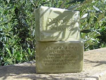 Natural olive soap from Greece